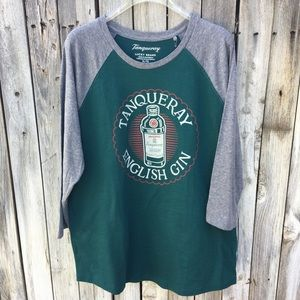 NWT Lucky Brand Tanqueray Graphic Baseball Tee XL